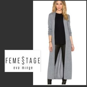 Feme Stage Maxi Gray Cardigan